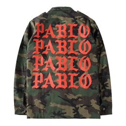 Wholesale Camouflage Jacket Men Winter - 2016 Autumn Winter Yeezus Season 3 Kanye West Pablo Camouflage Men Jacket Coat Army Green Hiphop Paul Streetwear Military Jacket