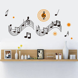 Wholesale Music Vinyl Wall Sticker - New Music Background Living Room Backdrop Wall Stickers Music Queen For Children's Room Classroom ZY8320
