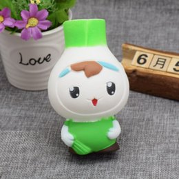 Wholesale Toy Phones For Babies - New Kawaii Cartoon 12CM Jumbo Onions Baby Squishy Soft Slow Rising Phone Straps Squeeze Bread Charms Scented Kid Toy