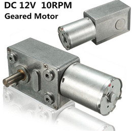 Wholesale 12v Dc Worm - XNEMON 12V 10Rpm Reversible High Torque Turbo Worm Geared Motor DC Motor Tools JGY370 New Arrival