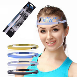 Wholesale Running Head Bands - Outdoor Sports Silicone Sweatband Adjustable Multi Function Sports Headwear Running Cycling Sweat Control Head Band GYM Sweatbands