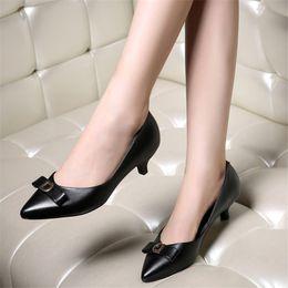 petites chaussures 32 Promotion Escarpins en cuir véritable Chaussure femme Grand 40 41 42 Petit 31 32 33 Talon haut 4.5CM EUR Taille 30-44