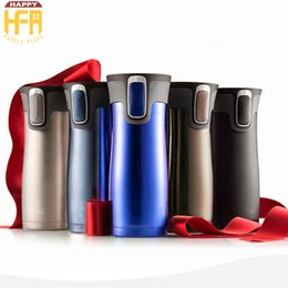 Wholesale Wholesale Thermal Coffee Mugs - Travel Coffee Mugs Vacuum Bottle Coffee Thermos Stainless Steel Vacuum Water Bottle High Quality Gifts Durable Safe Non Toxic Bottles
