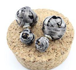 Wholesale Metal For Earings - 2015 new design fashion brand full metal Pierced elegant jewelry double Imitation pearls stud earrings for women flower earings