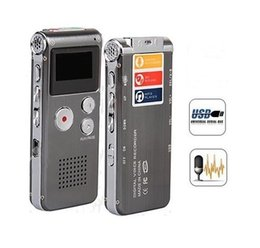 Wholesale 4gb Digital Voice Telephone Recorder - Wholesale-Rechargeable External Mic 4GB Voice Activated USB Digital Audio Voice Recorder Dictaphone MP3 Player Telephone Recorder espiao