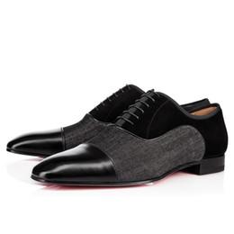 zapatos al por mayor para la boda Rebajas Venta al por mayor de zapatos Greggo Oxfords Gentleman Red Bottom Sneakers Mocasines con cordones vestido de boda del partido que camina con la caja EU35-46