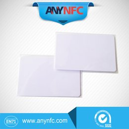 Wholesale Proximity Access - Wholesale- (10 Pcs lot) 13.56Mhz Waterproof RFID Proximity NFC Smart Cards PVC White FM11RF08 S50 for Access Control