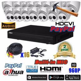 2019 cctv sistemas dome exterior Dahua HCVR4116HS-S3 4ch CVI Sistema de Câmera de Segurança 1 Megapixel 720 P À Prova D 'Água HDCVI IR Eyeball câmera de áudio DH-HAC-HDW1100EM-A