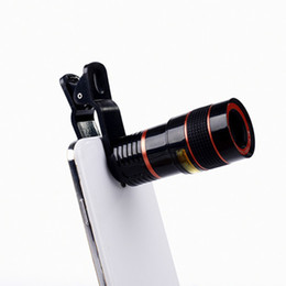 Wholesale Lens Zoom Optical - Universal 8X Optical Mobile phone Zoom Telescope Camera Lens Clip Mobile Phone Telescope For iPhone 6 plus for Samsung s6 note 5 for Huawei