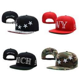 Wholesale Ny Caps Snapbacks - High Quality 40 OZ NYC Stars NY LA Camo Snapback Caps & Hats Snapbacks Snap Back Hat Men Women Baseball Cap Cheap Sale