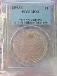 PCGS 1893-CC AU53 / MS62 / MS63 / MS64 1903-S MS65 MS64 AU50 Moneta da 1 dollaro Morgan / SPEDIZIONE GRATUITA da