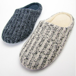 Wholesale Wholesale Gingham Fabric - Wholesale- 2016 NEW Winter Men Woolen Home Slippers Couple Home Slippers Women Keep Warm Indoor floor Shoes Non-Slip Plush Slippers Mens