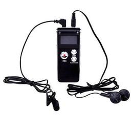 Usb laufwerk spieler online-Großhandels-Adroit 8GB Digital Audio Voice Recorder wiederaufladbare USB-Stick MP3-Player US JAN22