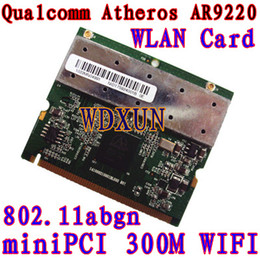 Wholesale Pci Fast Ethernet - Wholesale- 802.11A B G N Dual Band 2.4 5G PCI WiFi Wireless Card Chipset for Atheros AR9220 300Mbps 2.4GHz 5GHz