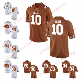 Wholesale Footballs Williams - Texas Longhorns #10 Vince Young 12 Colt McCoy 20 Earl Campbell 34 Ricky Williams White Brunt Orange Stitched College Football Jerseys S-3XL
