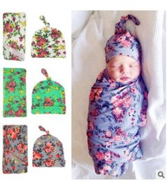 Wholesale Stretch Baby Wraps - Blanket Baby Photography Props Wrap Flower Swaddle Beanie Outfits Stretch Wrap Soft Bedding Towels Sleep Sacks Scarves Baby Photo Props J383