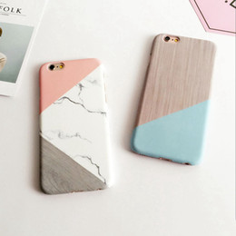 Wholesale stitch phone cases - For iPhone 7 Geometric Stitching Marble Stone Case Hard PC Phone Cover Back Case Capa Coque For iPhone7 6 6s Plus 8 8plus