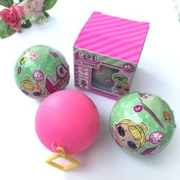 Wholesale Ball 45 - Best selling L.O.L Surprise dolls series 2 Lil sisters ball 45+ collect girls dolls discolor when touch water LOL surprise dolls