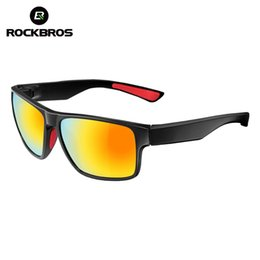 Wholesale Rockbros Polarized Sunglasses - Wholesale- ROCKBROS Polarized Cycling Glasses Bicycle Riding Protection Goggles Driving Hiking Outdoor Sports Sunglasses Cycling Eyewear