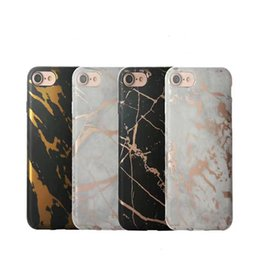 Wholesale Design Chrome - For iPhone X 8 7 6 Plus Chrome Marble Design Soft TPU Case Cover For Samsung S8 Plus Note 8