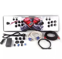 Wholesale Add Game - New design,American joystick,The new Pandora box 4S arcade consoles ,680 programs,HDMI VGA out, connected to computer,Add pause and exit