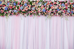 blue flowers background Coupons - Digital Printing Vinyl Wedding Curtain Backdrop for Photography Printed Pink Blue Flowers Kids Children Photo Studio Backgrounds