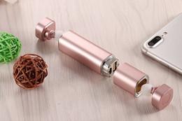 Wholesale Best Chinese Earbuds - luxury Best gift Mini TWS K2 Twins Wireless Bluetooth 4.1 Stereo Headset Lipstick-Sized mikrafon In-Ear Earphones Earbuds for iphone Samsung