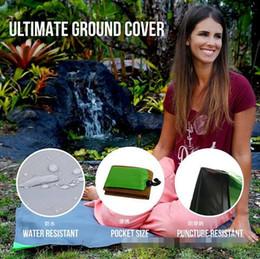 Wholesale Blanket Pockets - 8 Colors 140*152 New Outdoor Beach Waterproof Pad Foldable Travel Picnic Camping Blanket Protable Pocket Nylon Sleeping Mat CCA6375 50pcs