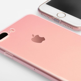 Wholesale Iphone Case Plug Dust - Luxury TPU Case For iPhone7 & iPhone 7 Plus Case Ultra Thin Case for apple 7 Cover with Dust Plug Design Transparent