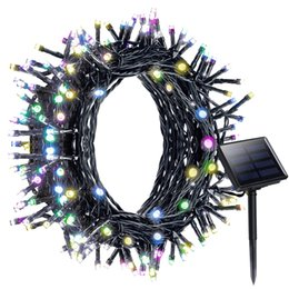 Wholesale Decoration For Patio - 200 LED Solar String Lights 8 Modes Solar Powered Starry Fairy Outdoor String Light Christmas Holiday Decoration Light for Patio Garden Home