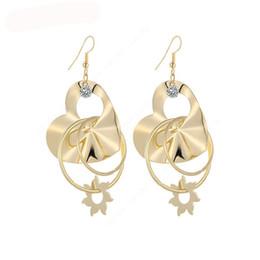 Wholesale Peach Chandelier - Dangle Long Earrings For Women Heart Peach With CZ Diamone Bijouterie Hot Sale No.A215 A216