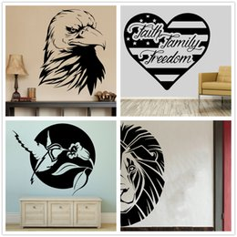 Mix Order Eagle Head Bird Wall Decal Lion Head Wall Sticker Vinyl Birds  Stickers Removble Love Design Pattern Flat Wall Decals Home Decor On Sale Part 32