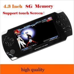 Wholesale Games Mp5 Touch - New 4.3-inch touch screen Handheld Game Player 8GB 1080P LCD Screen MP4 MP5 Video Game Players PSP Games Console with 9000+ Games