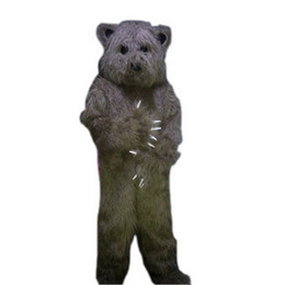Wholesale Happy Bear Mascot - Happy Grey Bear 003 Mascot Mascot Costumes Cartoon Character Adult Sz 100% Real Picture