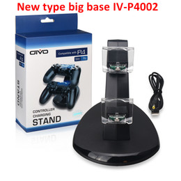Wholesale New Games Xbox - NEW Big base for Xbox One Playstation LED Dual USB Charger Dock Mount Charging Stand Holder For Wireless PS4 Gamepad Game Controllers