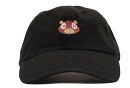 Wholesale Wholesale Graduation Caps - Kanye West Graduation College Dropout Bear Dad Hat Cap White Tan Pink Black 6 panel polos snapback hats Rare baseball caps