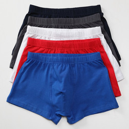 Wholesale Lycra Cotton Boxer - Wholesale-NewHipster Trunk Boxers Men Cotton Spandex Bamboo Underwear Sexy Lycra Brand(10pcs Lot) Fitness Cueca Gay