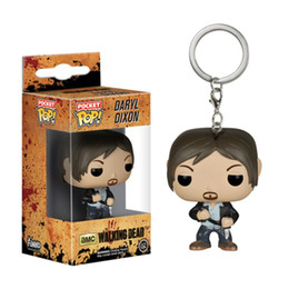 Wholesale Car Televisions - Funko POP Television Walking Dead Daryl Dixon Pocket Keychain Key Ring Hanger 10pcs lot