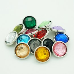 Wholesale colorful beauty - Hot sale Beauty 50pcs NS5011 colorful mixed Multi-faceted resin 12MM snap buttons for DIY ginger snap bracelets Accessories charm jewelry