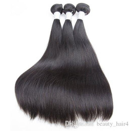 Wholesale 8inch Straight Human Hair - nature Indian Hair Straight Natural Black nature Human Hair 2pcs Strong Weaving 8inch to 30inch Ali Moda Hair Free Shipping By Dhl