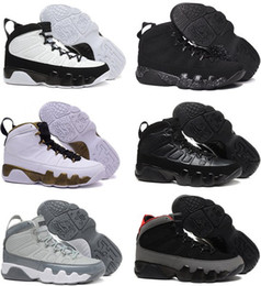 Wholesale Men Statue - New air 9 retro Copper Statue Anthracite Baron Charcoal Johnny Kilroy men basketball shoes 9s cheap sports sneakers US size 8-13 With Box