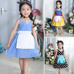 alice tutu Promo Codes - INS Girls Floral Dress Baby Snow white Alice Princess Party Dress Summer Kids Short Sleeves Tutu dresses Fashion Clothing WX-D34