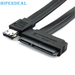 Wholesale Esata Sata Cable - Wholesale- HIPERDEAL Advanced FOR New Dual Power eSATA USB 12V 5V Combo to 22Pin SATA USB Hard Disk Cable 1PC