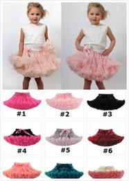 Wholesale Gift Satin Ribbon - 21 styles girl Christmas pettiskirt tutu short skirt tulle fluffy skirt satin ribbon bow princess lace pink costumes Holiday gift JC245