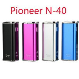 Wholesale Dry Herb Vaporizer Charger - 100% Authentic Pioneer N-40 40w vape mod with charger cable box mod kit fit vs kanger topbox mini 75w for vaporizer dry herb
