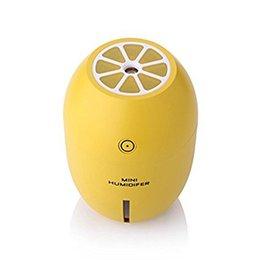 Wholesale Mini Cool Mist Humidifiers - Wholesale Ultrasonic USB Humidifier Portable Mini Lemon Night Light 180ML Cool Mist Car Air Purifier Steam Diffuser (Yellow)