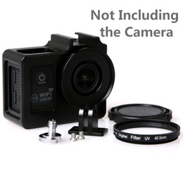 Wholesale Metal Dove - Wholesale- Soocoo c30 10 Accessories Alloy cage Protective Housing Case Cover Metal frame +UV filter for SJCAM SJ4000 WIFI SJ5000 6000 7000