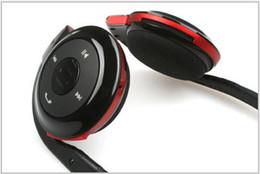 Wholesale Headset Sport Sd - Wholesale- Neckband MP3 Mini Wireless Bluetooth Headset headphone Music Stereo Bluetooth Earphone Micro SD TF Card Slot Sport