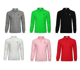 Wholesale High Collar Men Shirt - New Top Fashion POLO Men Shirts Long Sleeve Mens Dress Shirts High Quality Mens Business Shirts Chemise Homme