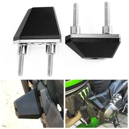 Wholesale Cnc Z - For KAWASAKI Z750 Z 750 2004-2014 CNC Aluminum Black Left and Right Motorcycle Frame Slider Anti Crash Protector accessories